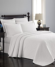 Martha Stewart Collection Castle Matelasse Bedspreads and Shams, Created for Macy's