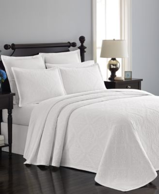 martha stewart collection 100 cotton castle matelass queen bedspread created for macyu0027s