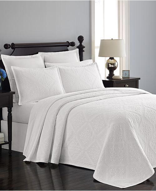 Martha Stewart Collection  100% Cotton Castle Matelassé Twin Bedspread, Created for Macy's