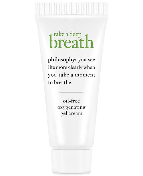 philosophy Receive a FREE Take a Deep Breath Deluxe Oil-Free Oxygenating Gel Cream with any philosophy purchase
