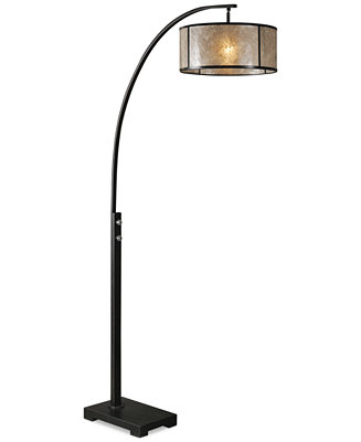 Uttermost cairano arc floor lamp lighting lamps home for Macy s torchiere floor lamp