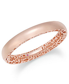 The Fifth Season by Roberto Coin 18k Rose Gold-Plated Sterling Silver Bangle Bracelet 7771320SXBA0