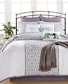 CLOSEOUT! Quintin Cotton 14-Pc. King Comforter Set