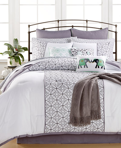 CLOSEOUT! Quintin Cotton 14-Pc. Comforter Set, Created for Macy's