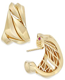 The Fifth Season by Roberto Coin 18k Gold-Plated Sterling Silver Hoop Earrings 7771158SYER00