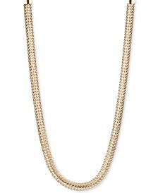 Anne Klein Silver-Tone Flat Chain Necklace