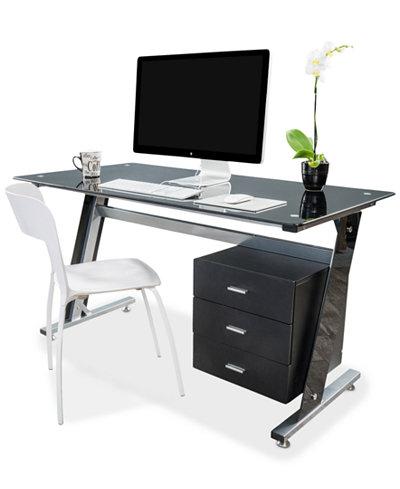 Thorpe Bk Computer Desk Quick Ship Furniture Macy 39 S
