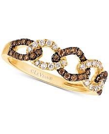 Le Vian Chocolatier® Diamond Linked Ring (1/3 ct. t.w.) in 14k Gold