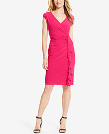 American Living Cap-Sleeve Ruffled Dress