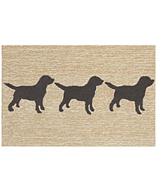 Liora Manne Front Porch Indoor/Outdoor Doggies Black 2' x 3' Area Rug