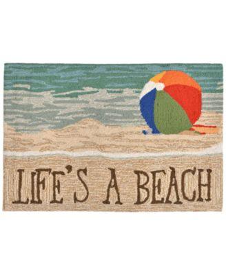 Liora Manne Front Porch Indoor/Outdoor Life's A Beach Sand 2' x 3' Area Rug