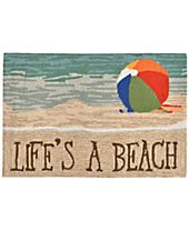 Liora Manne Front Porch Indoor/Outdoor Life's A Beach Sand Area Rug