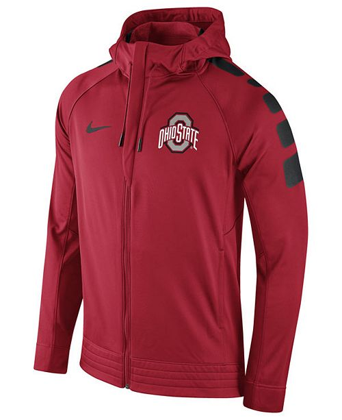 8e84fad2 ... Nike Men's Ohio State Buckeyes Elite Stripe Basketball Performance  Full-Zip Hoodie ...