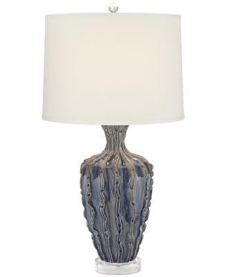 Pacific Coast Wistar Reef Blue Ceramic Table Lamp