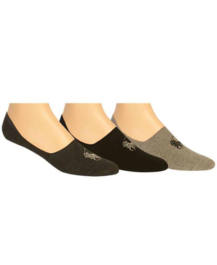 Polo Ralph Lauren Ralph Lauren Men's No Show Liner Socks 3 Pack & Reviews - Underwear & Socks - Men - Macy's