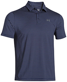 Under Armour Men's Playoff Performance Striped Golf Polo