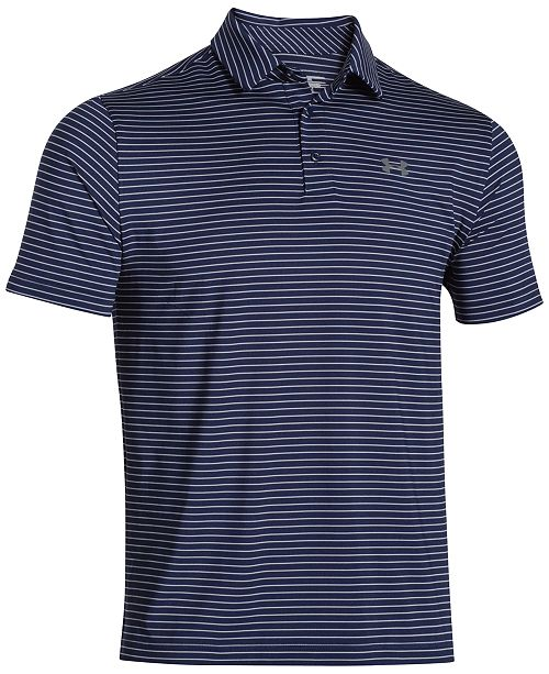 1f69ea4194e8b1 Under Armour Men s Playoff Performance Striped Golf Polo   Reviews ...