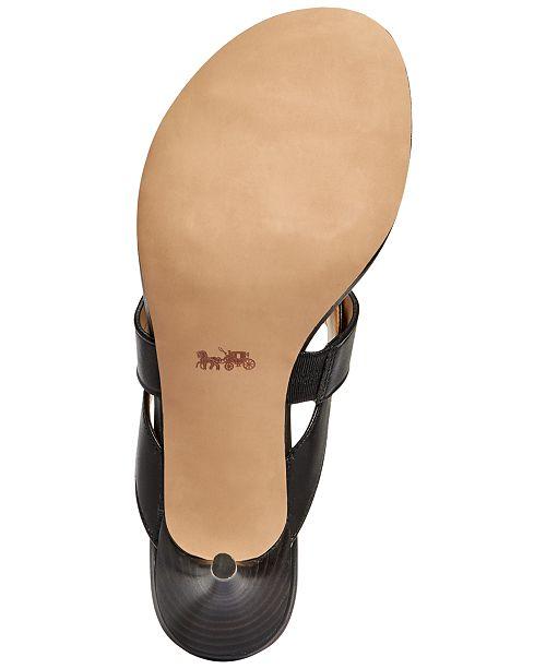 fdddb9af3 COACH Olina Turnlock Thong Dress Sandals   Reviews - Sandals   Flip ...
