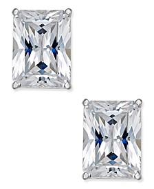 Arabella Swarovski Zirconia Stud Earrings in 14k White Gold