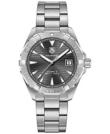 Men's Swiss Aquaracer Calibre 5 Stainless Steel Bracelet Watch 41mm