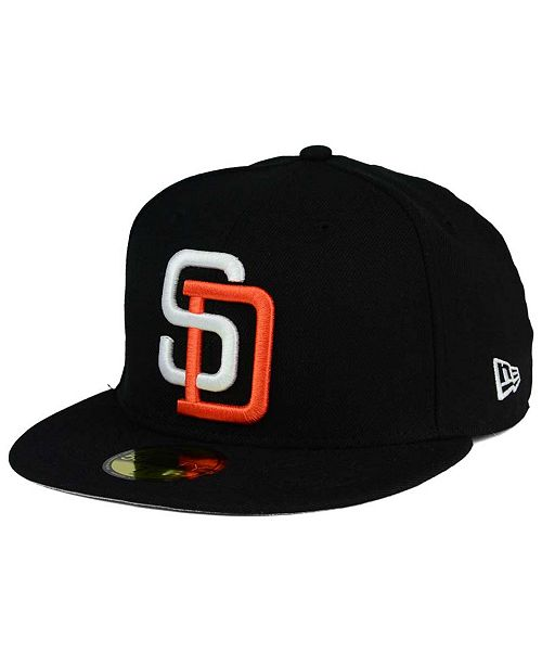 best service 9fab9 5093d ... New Era San Diego Padres Banner Patch 59FIFTY Fitted Cap ...