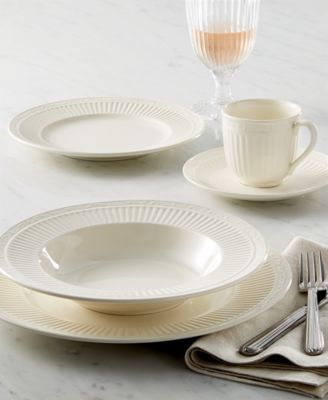 Bring the ease of sunny Italy to casual tables with neoclassical Italian Countryside dinnerware by Mikasa. Fluted borders edged with an embossed scroll ... & Mikasa Dinnerware Italian Countryside Collection - Dinnerware ...