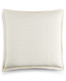 LAST ACT!  Modern Airbrush Geo Quilted European Sham, Created for Macy's