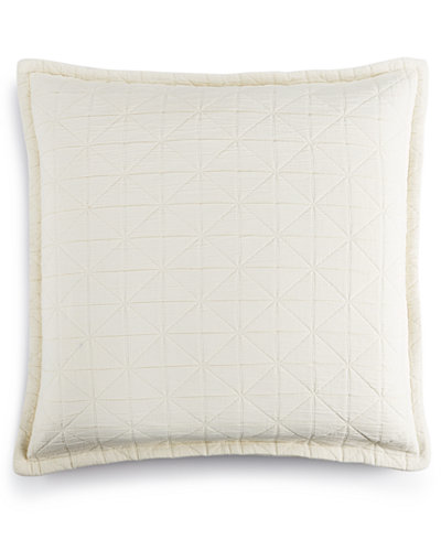 LAST ACT! Hotel Collection Modern Airbrush Geo Quilted European Sham, Created for Macy's