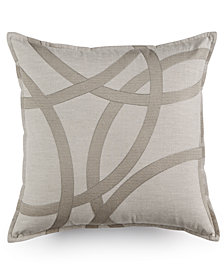 "Hotel Collection Eclipse Embroidered 18"" Square Decorative Pillow, Created for Macy's"