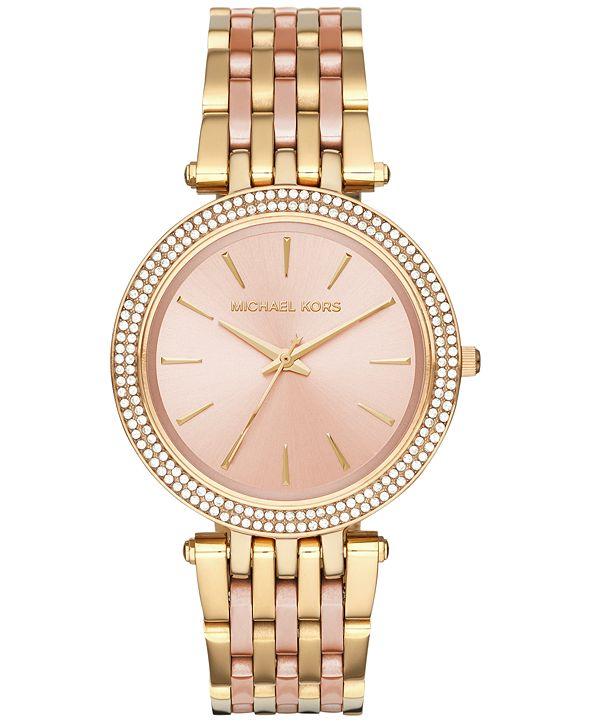 Michael Kors Women's Darci Two-Tone Stainless Steel Bracelet Watch 39mm MK3507