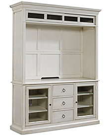 Sag Harbor White Entertainment Center, 2-Pc. Set (Entertainment Deck & Entertainment Console)