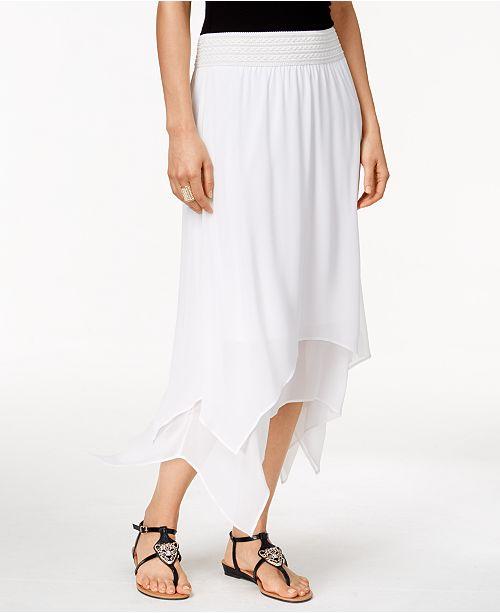 Thalia Sodi Handkerchief-Hem Maxi Skirt, Created for Macy's