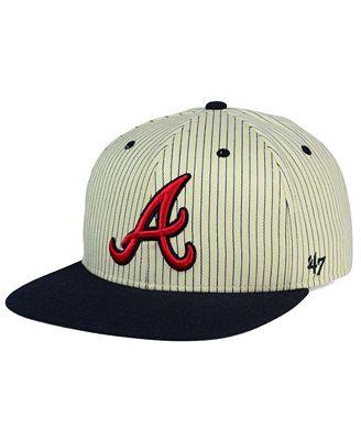 '47 Brand Atlanta Braves Woodside Captain Snapback Cap