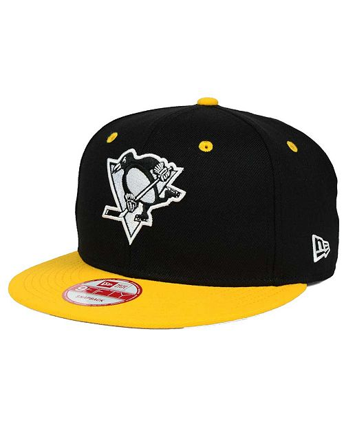 87fd2704e9baf ... New Era Pittsburgh Penguins Black White Team Color 9FIFTY Snapback Cap  ...