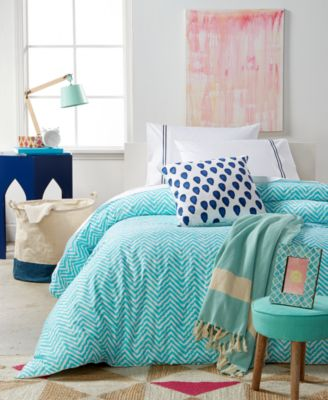 For Macy's Turquoise Wave 8-Pc. Twin/Twin XL Duvet Cover Boxed Room