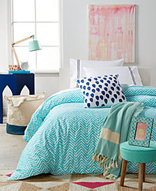 Remodo For Macy's Turquoise Wave 8-Pc. Twin/Twin XL Duvet Cover Boxed Room