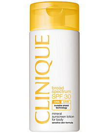Clinique Broad Spectrum SPF 30 Mineral Sunscreen Lotion For Body, 4.2 fl. oz.