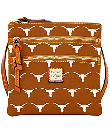 Dooney & Bourke Texas Longhorns Triple Zip Crossbody Bag