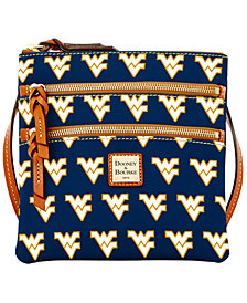 Dooney & Bourke West Virginia Mountaineers Triple Zip Crossbody Bag