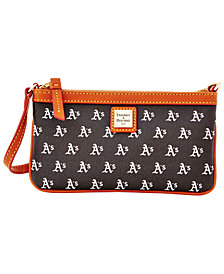 Dooney & Bourke Oakland Athletics Large Slim Wristlet