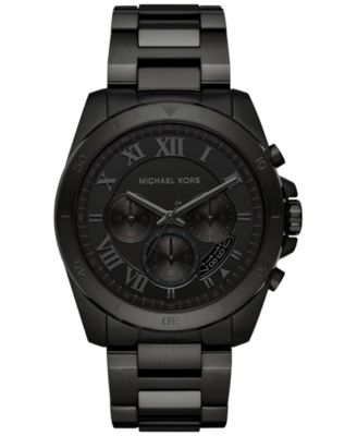 Michael Kors Men\u0027s Chronograph Brecken Black Ion-Plated Stainless Steel  Bracelet Watch 44mm MK8482