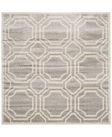 Safavieh Amherst Indoor/Outdoor AMT411B Light Grey/Ivory 5' x 5' Square Area Rug
