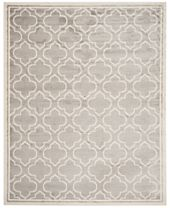 CLOSEOUT! Safavieh Amherst Indoor/Outdoor AMT412B Light Grey/Ivory Area Rugs
