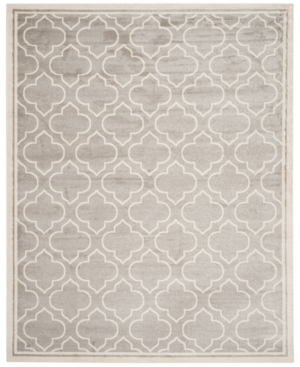Safavieh Amherst Indoor/Outdoor AMT412B Light Grey/Ivory 5'