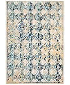 Evoke EVK262C Ivory/Blue 3' x 5' Area Rug