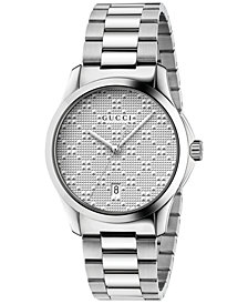 Gucci Unisex Swiss G-Timeless Stainless Steel Bracelet Watch 38mm YA126459