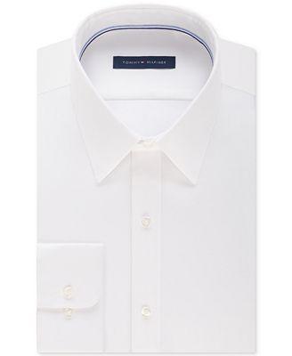 Tommy Hilfiger Men's Athletic Fit Flex Collar Performance White ...