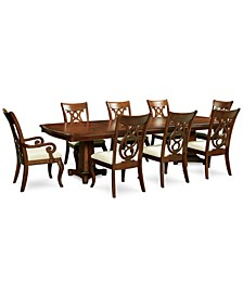 Closeout! Bordeaux Double Pedestal 9-Pc. Dining Set, Created for Macy's,  (Dining Table, 6 Side Chairs & 2 Arm Chairs)