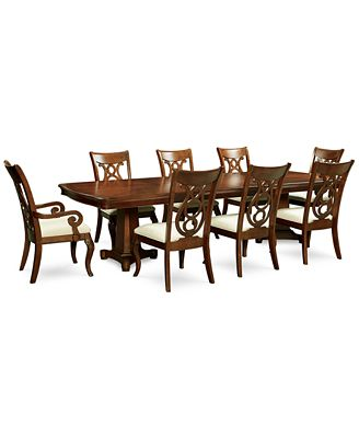 bordeaux double pedestal 9-pc. dining set, created for macy's