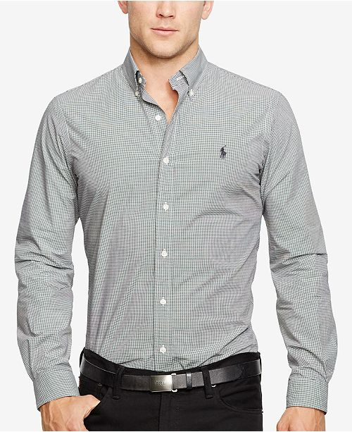 3dd33ce76c80 Polo Ralph Lauren Slim-Fit Men's Long Sleeve Stretch Poplin Shirt ...